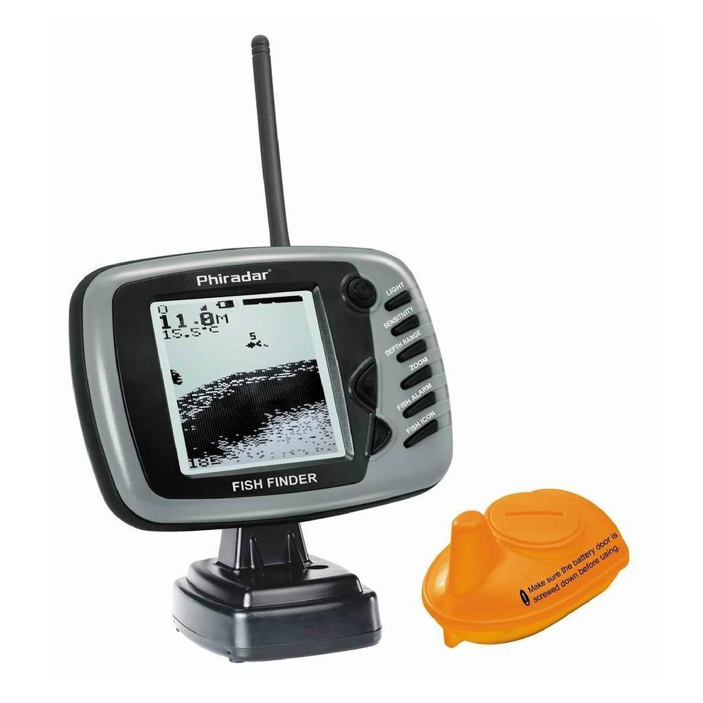 Big screen wireless dot matrix fish finder fd19 phiradar for Wifi fish finder