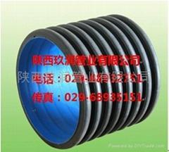 陝西玖潤HDPE雙壁波紋管市政排水排污用