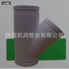 hdpe超静音排水管陕西玖润GCPE沟槽式斜梯三通