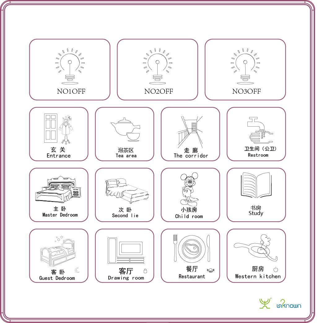 36路中控智能開關 智能照明系統 支持異地控制 4