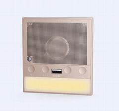 86音乐播放器面板 支持蓝牙 充电 调光小夜灯 内置低音炮