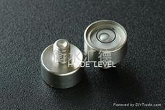 Metal spirit level vial
