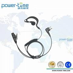 Two way radio ear hook with a in-line PTT FOR walkie talkie earpiece