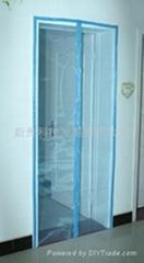 供應磁性門帘,磁性門窗,磁性軟沙門,天藍色