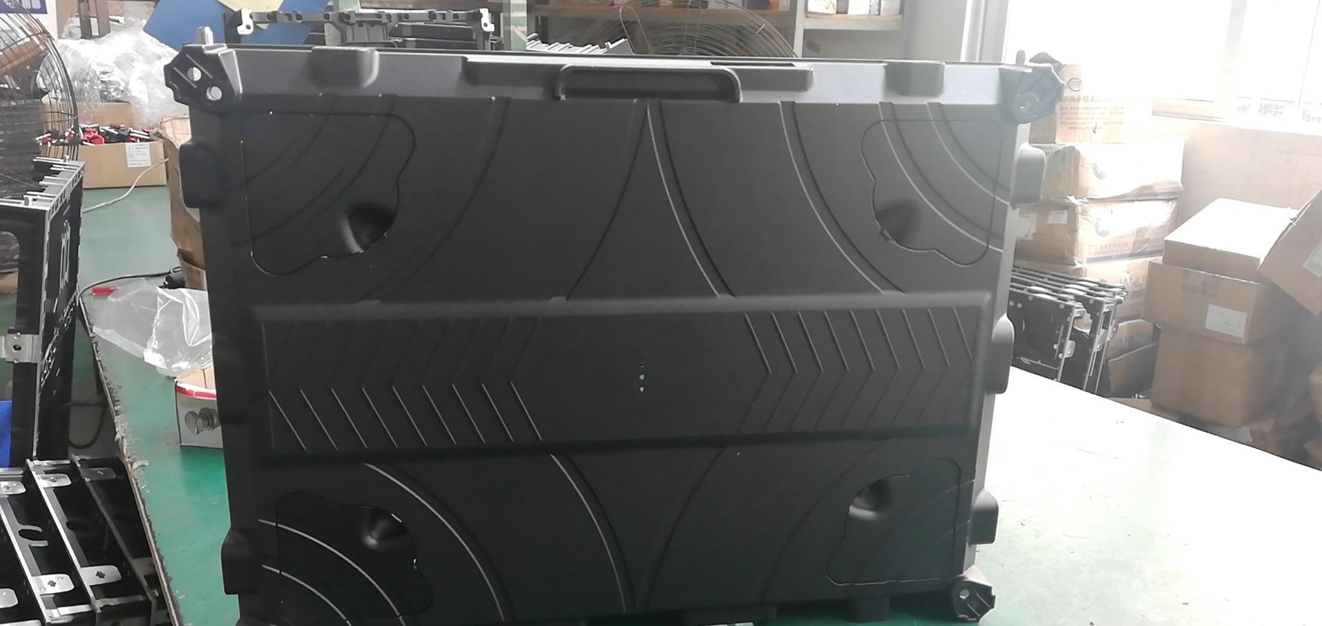 公模磁吸前維護壓鑄鋁箱體 LED顯示屏箱體 640*480*52MM 1