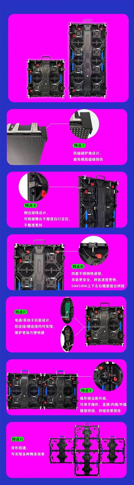 公模壓鑄鋁箱體 LED顯示屏箱體480*480mm 適用於: P2.5 P5 5
