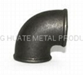 Malleable iron cross pipe fittings