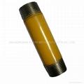 powder coated steel pipe nipples 1