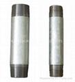 Long screw carbon steel pipe nipples 1