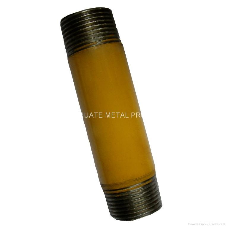 powder coated steel pipe nipples 3