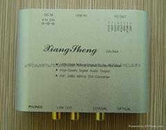 HIFI-TE7022解码器USB转同轴光纤耳放24bit 96KHz