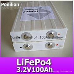 3.2V100Ah lifepo4 battery cell