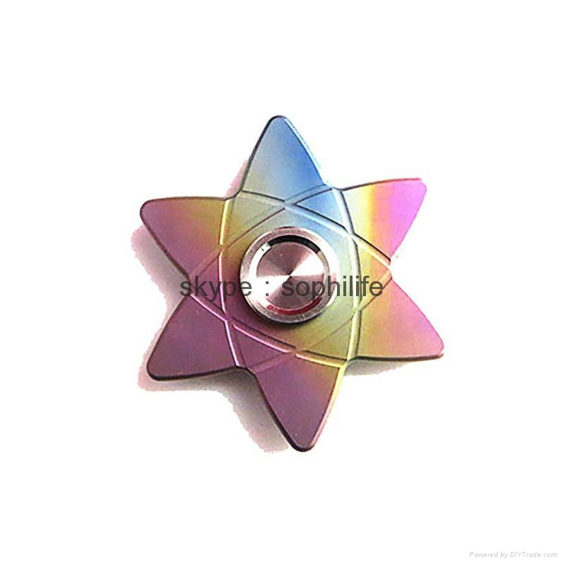 Titanium alloy Tri-Spinner Fidget Hand Spinner Triangle Torqbar  Finger toys  4