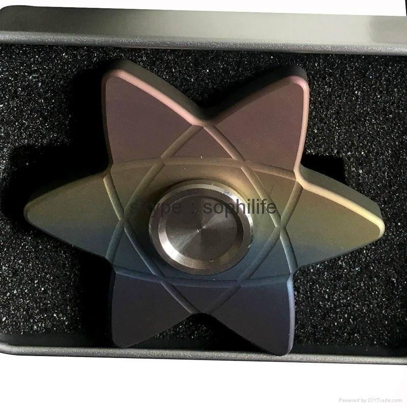 Titanium alloy Tri-Spinner Fidget Hand Spinner Triangle Torqbar  Finger toys  5