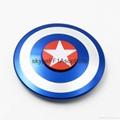 Captain America hand finger spinner aluminum fidget spinners