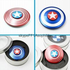 Captain America hand finger spinner aluminum fidget spinners (Hot Product - 1*)