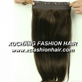 Remy clip hair extension 5