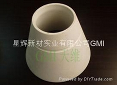 Pouring cup foundry  cordirite mullite or clay