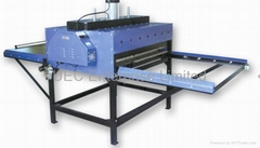 Pneumatic double stations subliming transfer machine