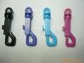 塑料狗扣弹簧钥匙扣 1