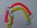 塑料狗扣彈簧鑰匙扣 2