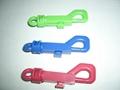 塑料狗扣彈簧鑰匙扣 4