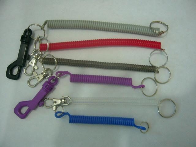 塑料狗扣彈簧鑰匙扣 5