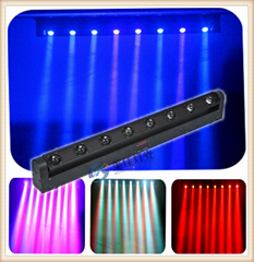 New 8 x 10W 4in1 RGBW LED rotation bar beam moving head led
