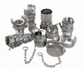 aluminum guillemin camlock couplings