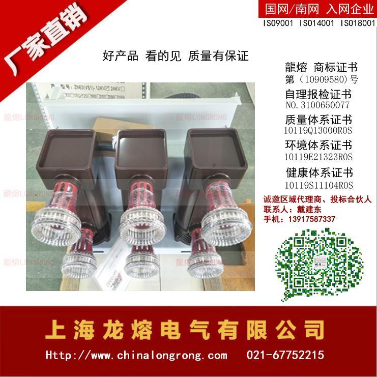 ZN63A 大电流真空断路器  专业 品质保证 有第三方试验报告  2