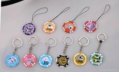 Poker chip key chain