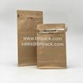 Block Bottom Kraft Paper Coffee Pouch