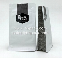 250g 500g Box Bottom Pouch With Pull Zipper