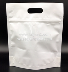 Stand Up Pouch White PE Lined