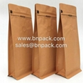 Aluminum Foil Lined Craft Paper Bags For Coffee Packing 2