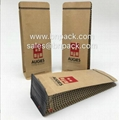 Aluminum Foil Lined Craft Paper Bags For Coffee Packing 4