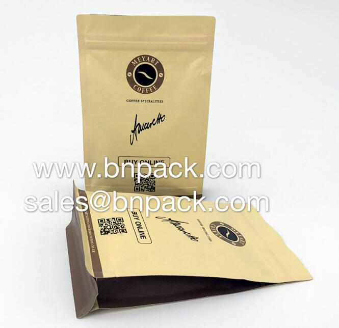 Aluminum Foil Lined Craft Paper Bags For Coffee Packing 10