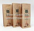 Block Bottom Kraft Foil Lined Pouch