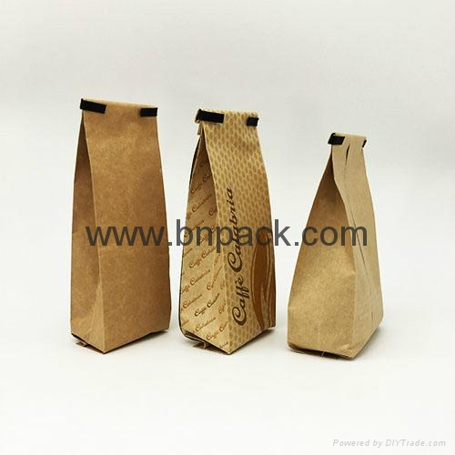 250g  print aluminum foil laminated kraft paper bag with zipper for coffee bean 3