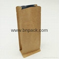 blenched white kraft paper bag lined