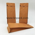 clear window stand up kraft paper bags nut packaging zipper doypack 3
