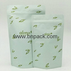 matte finished kraft paper foil laminated food packaging bags