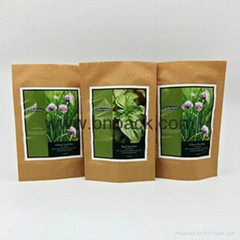 standing up kraft paper bags for packaging flower soil