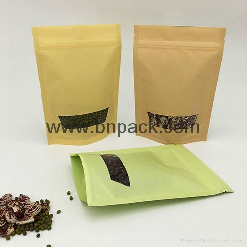 2017 New design recyclable snack paper bags 1