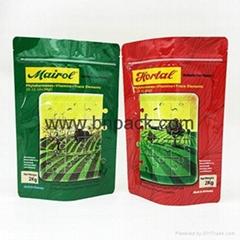 2017 standing up fertilizer packaging pouch