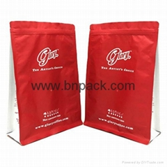 China supplier best quality box bottom aluminum foil powder bag wholesale