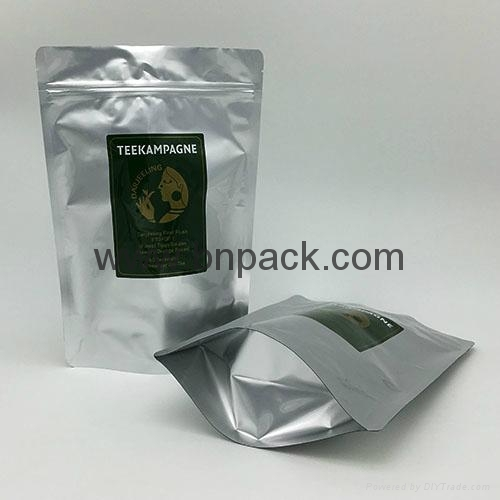 custom logo foil stand up ziplock pouch for dried nuts 6