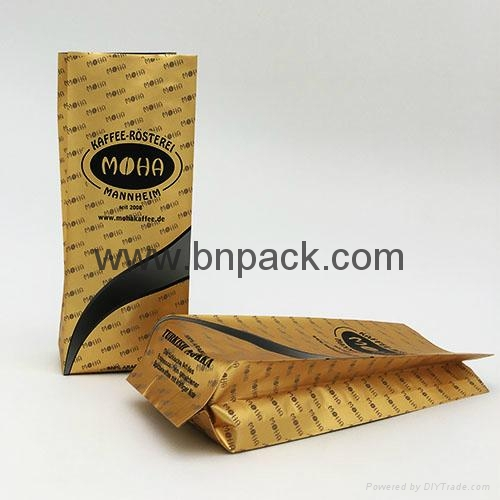 Food grade custom logo plastic aluminum foil bag for roasted coffee bean 1