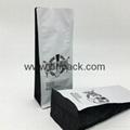stand up custom printing matt black tin