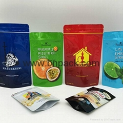 Factory price resealable plastic stand up foil bag for tobacco packaging